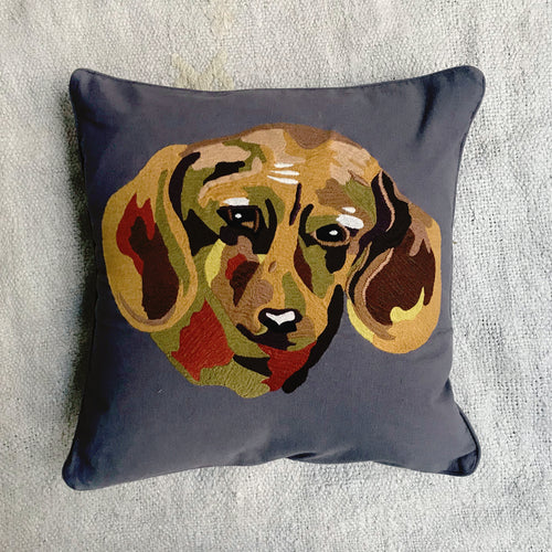 Nathalie Lete Embroidered Dog Pillow #1