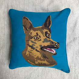 Nathalie Lete Embroidered Dog Pillow #2