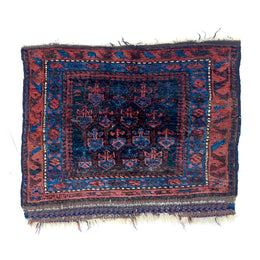 "BL2 25"" x 24"" Baluch Prayer Rug"