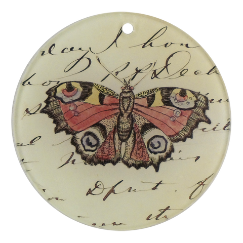 "Pink Butterfly (3"" Round)"