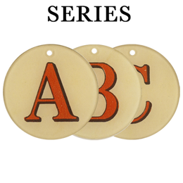 "Red Letters (A-Z & !? Available) (3"" Round)"