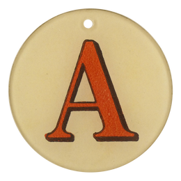 "Red Letters - A (3"" Round)"