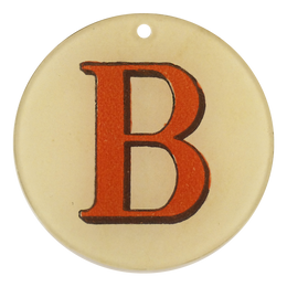 "Red Letters - B (3"" Round)"
