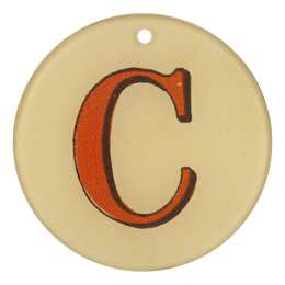 "Red Letters - C (3"" Round)"