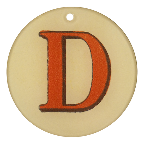 "Red Letters - D (3"" Round)"