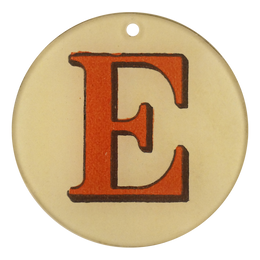 "Red Letters - E (3"" Round)"