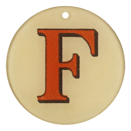 "Red Letters - F (3"" Round)"