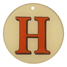 "Red Letters - H (3"" Round)"