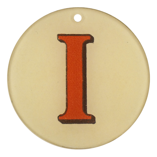 "Red Letters - I (3"" Round)"
