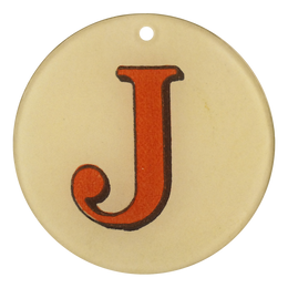 "Red Letters - J (3"" Round)"