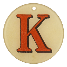 "Red Letters - K (3"" Round)"