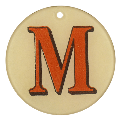 "Red Letters - M (3"" Round)"
