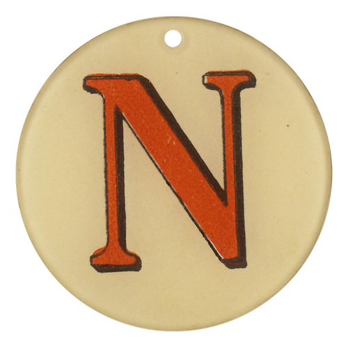 "Red Letters - N (3"" Round)"