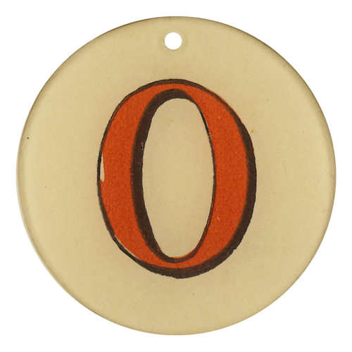 "Red Letters - O (3"" Round)"