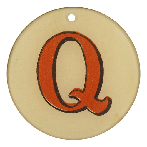 "Red Letters - Q (3"" Round)"