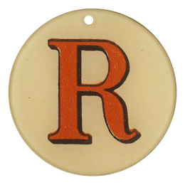 "Red Letters - R (3"" Round)"