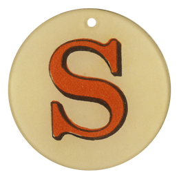 "Red Letters - S (3"" Round)"