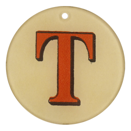 "Red Letters - T (3"" Round)"