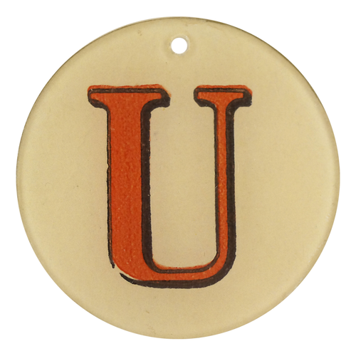 "Red Letters - U (3"" Round)"