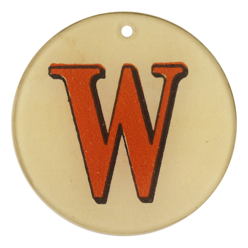 "Red Letters - W (3"" Round)"