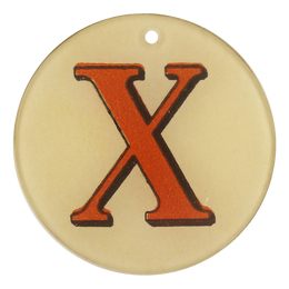 "Red Letters - X (3"" Round)"