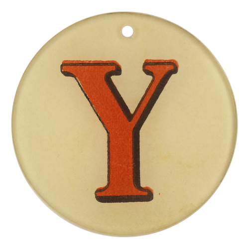 "Red Letters - Y (3"" Round)"