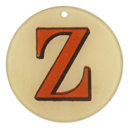 "Red Letters - Z (3"" Round)"