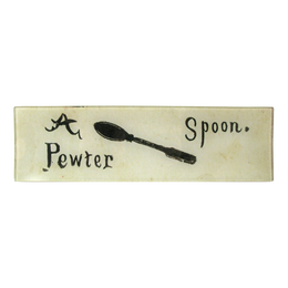 A Pewter Spoon (Flash Card) - SALE