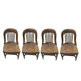 Set of 4 Classic Antique Office Chairs