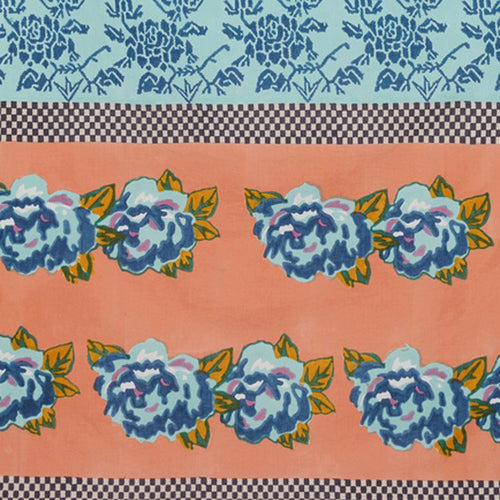 Lisa Corti Panel in Double Peonia Peach 110 x 240cm