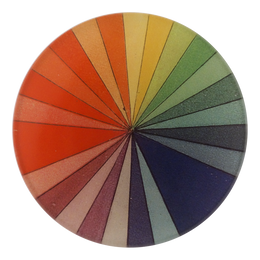 Color Spectrum portrays every color of the spectrum in a four inch round handmade decoupage plate.