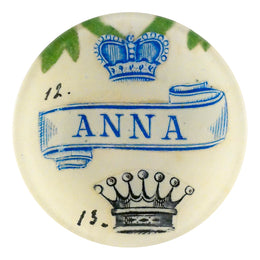 Anna is a four inch round place handmade in our New York City studio