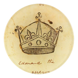 A four inch round with crown titled Crowns - Edmond the Conqueror