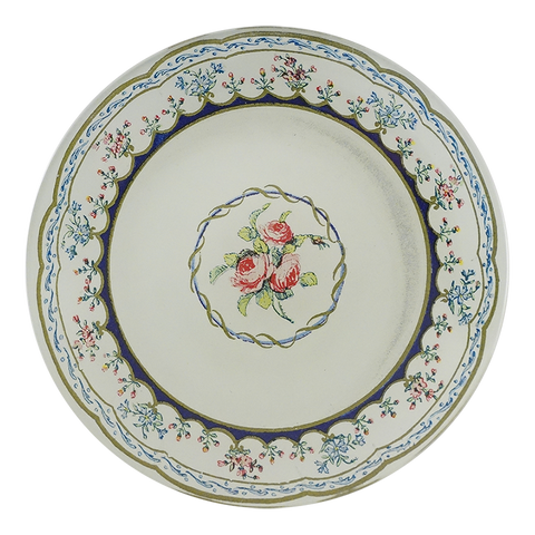 Butter Plate 5 (Triple Rose)