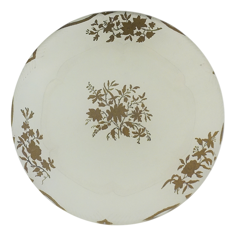 Butter Plate 7 (Gold Leaves)