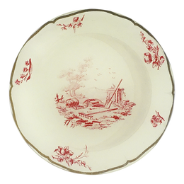 Butter Plate 8 (Red Toile)