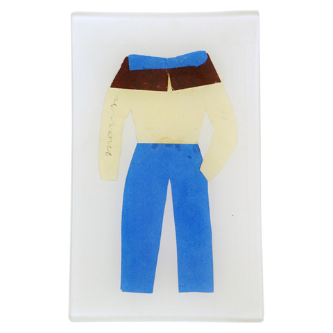 Paper Clothes Blue Pants