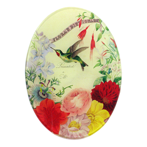 Flora's Dictionary Hummingbirds handmade by using decoupage in a New York City studio