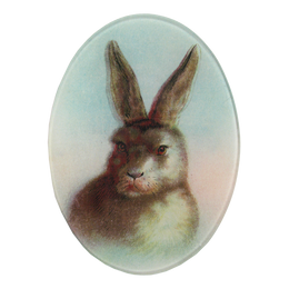 Bunny hand made decoupage item hand crafted in the New York City studio