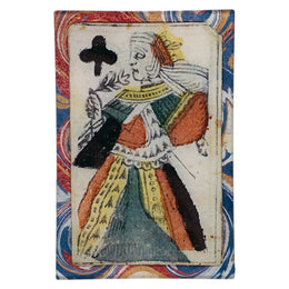 Queen of Clubs (on Marble)