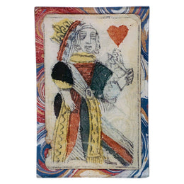 Queen of Hearts (on Marble)