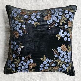 Aristo Corner Silk Velvet Cushion in Nightshade