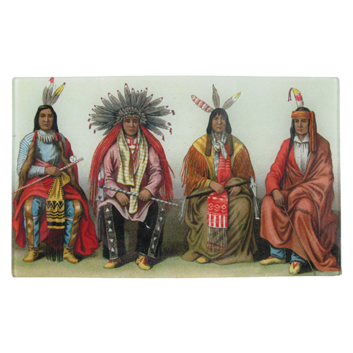 Native Americans Sitting handmade decoupage item