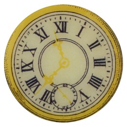 Yellow Clock 11:38