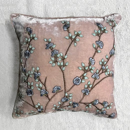 Tuileries Silk Velvet Cushion in Orchid