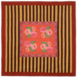 Lisa Corti Panel in Nizam Red Stripes 180 x 180cm