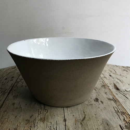 Rien Large Salad Bowl in Raw Clay