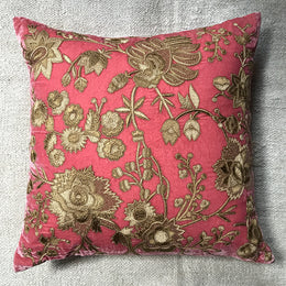Haute Couture Xenia Cushion in Cyclamen Silk Velvet