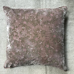 Meena Cushion in Rosewood Silk Velvet