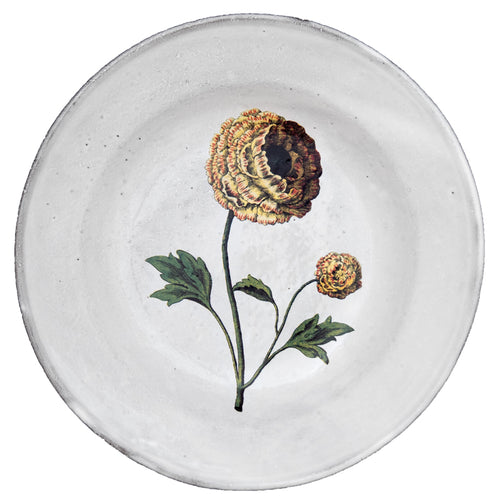 Indian King Ranunculus Soup Plate